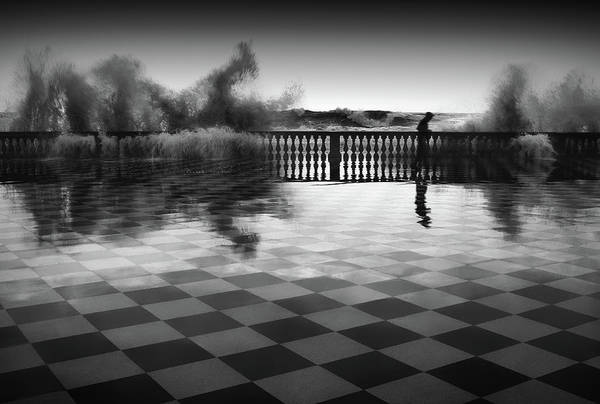 Storm Photograph - The Chessplayer by Paolo Lazzarotti