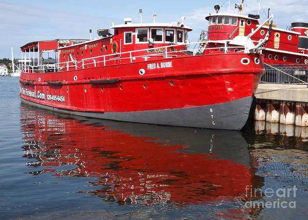 Fireboat Wall Art - Photograph - The Chicago Fireboat by Deb Schense