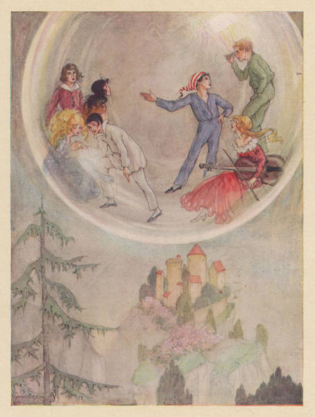 Wall Art - Drawing - The Children Are Wafted In  A Magic by Mary Evans Picture Library