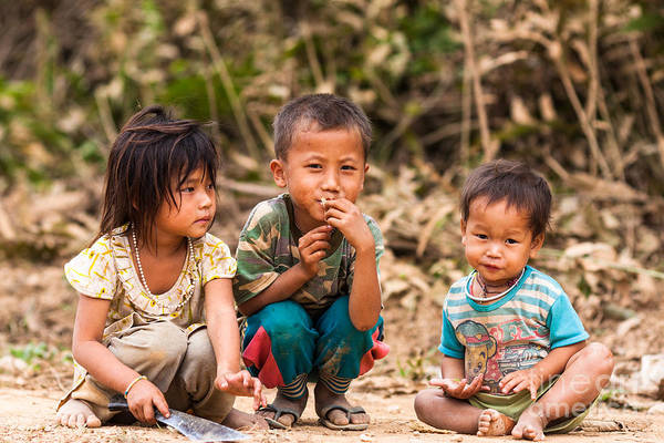 Photograph - The Children Of Laos by Didier Marti
