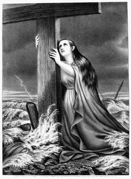 Painting - 'the Christian's Refuge by Granger