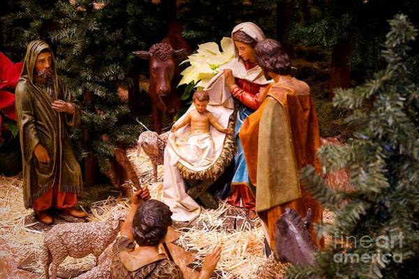 Photograph - The Christmas Creche At Holy Name Cathedral - Chicago by Frank J Casella