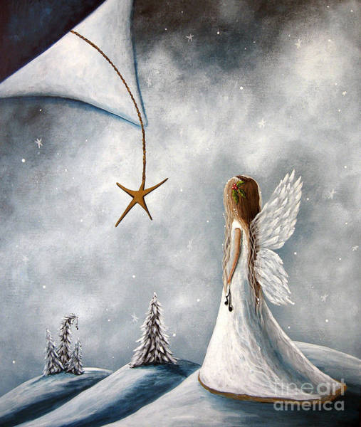 Wings Painting - The Christmas Star Original Artwork by Erback Art