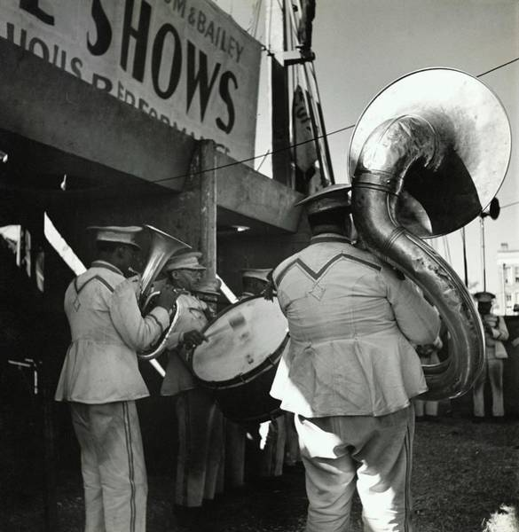 Playing Photograph - The Chubby Circus Band by Toni Frissell