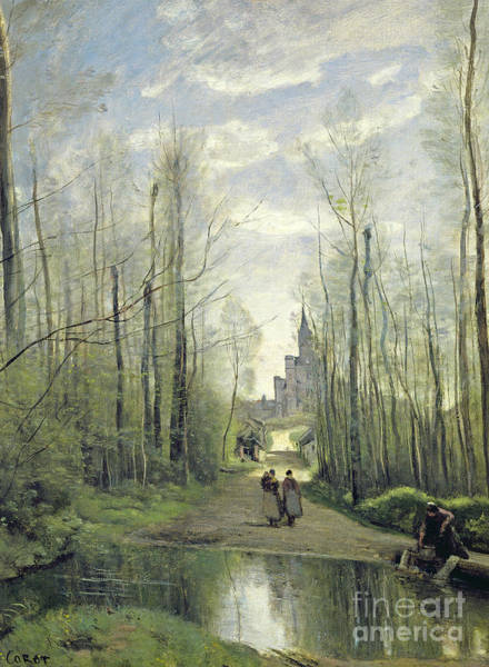 Camille Wall Art - Painting - The Church At Marissel by Jean Baptiste Camille Corot