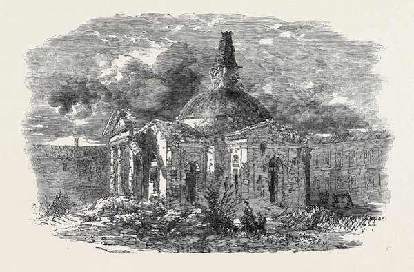 Ukraine Drawing - The Church Of Peter And Paul, In Sebastopol by English School