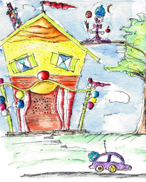 Drawing - The Circus Clown by Jason Nicholas