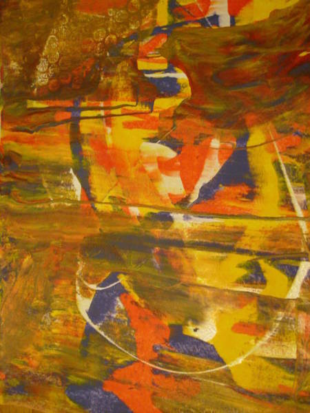 Trapeze Painting - The Circus by Eileen Tascioglu
