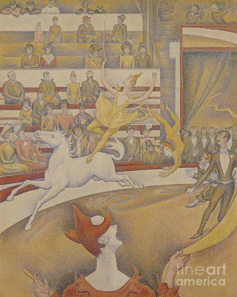 Acrobat Wall Art - Painting - The Circus by Georges Pierre Seurat