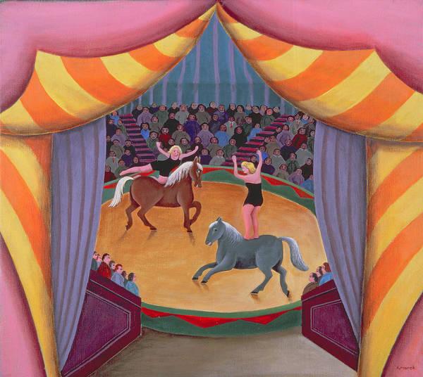 Acrobat Photograph - The Circus by Jerzy Marek