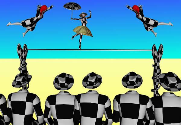 Tightrope Walker Digital Art - The Circus by Klaus Engels