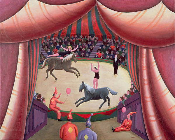 Acrobat Photograph - The Circus Ring by Jerzy Marek