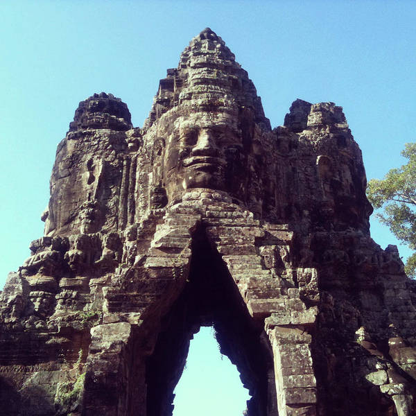 Cambodian Photograph - The City Gates At Angkor by Lasse Kristensen