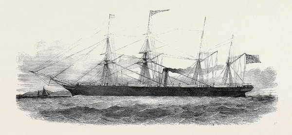 Manchester Drawing - The City Of Manchester Screw Steamer by English School