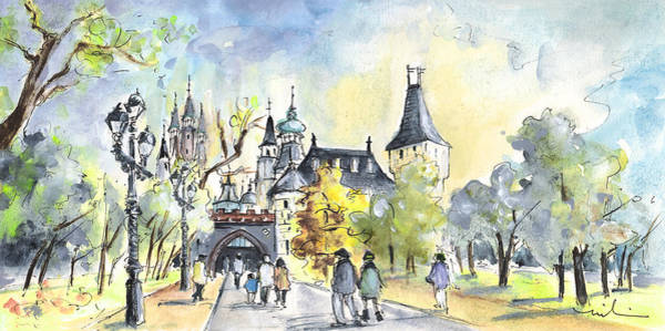 Painting - The City Park In Budapest 02 by Miki De Goodaboom