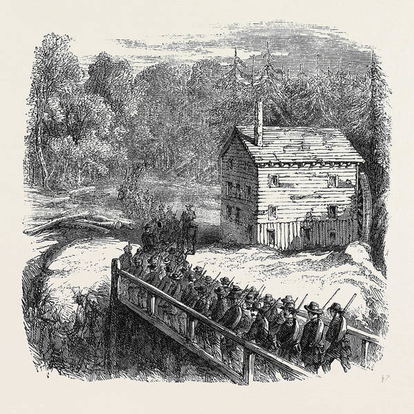 Brigade Drawing - The Civil War In America Franklins Brigade Passing by English School