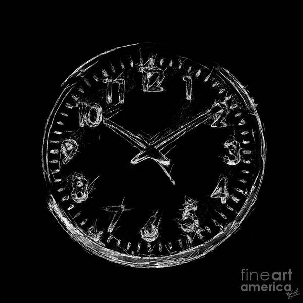 Negative Space Digital Art - The Clock by Nishanth Gopinathan