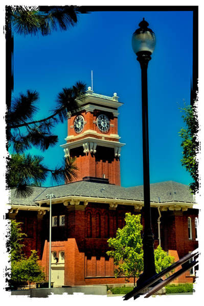 Photograph - The Clock Tower At Bryan Hall - Washington State University by David Patterson