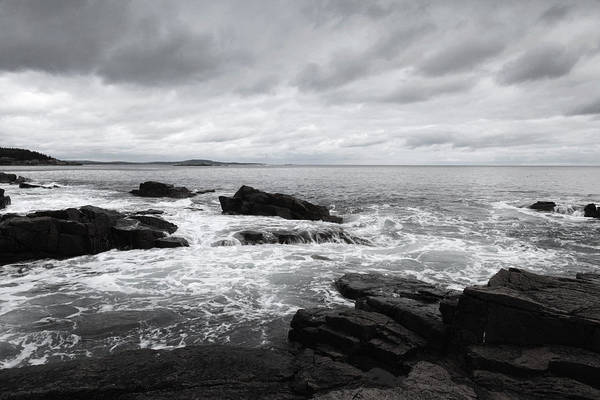 Wall Art - Painting - The Cloudy Day In Acadia National Park Maine by Paul Ge