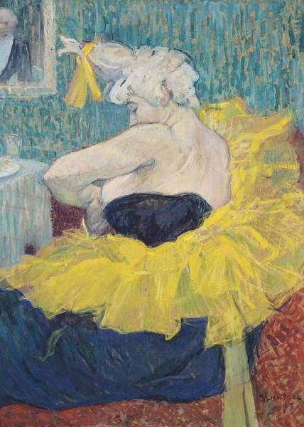 Yellow Ribbon Painting - The Clowness Cha-u-kao In A Tutu by Henri de Toulouse-Lautrec