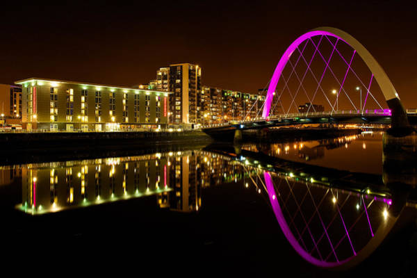 Photograph - The Clyde Arc In Purple by Stephen Taylor