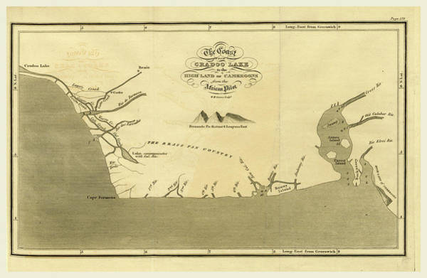 Great Lakes Region Wall Art - Drawing - The Coast From Cradoo Lake To The High Land Of Cameroons by Litz Collection