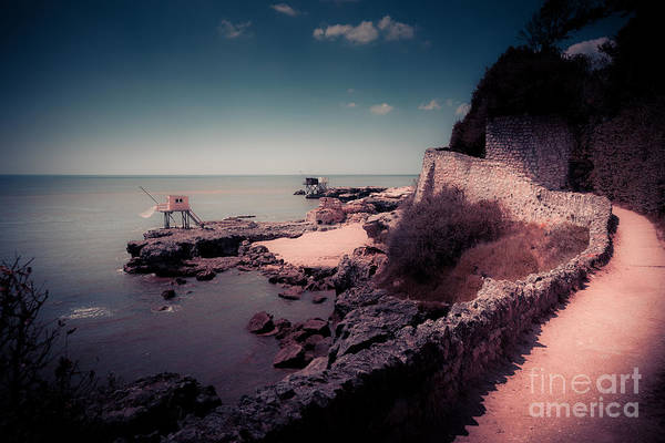 Photograph - The Coastal Path Alongside Traditional Fisherman Huts On Stilts  by Peter Noyce