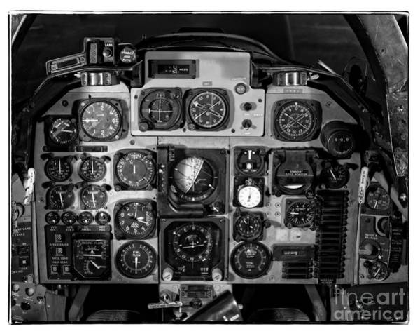 Vintage Airplane Photograph - The Cockpit by Edward Fielding