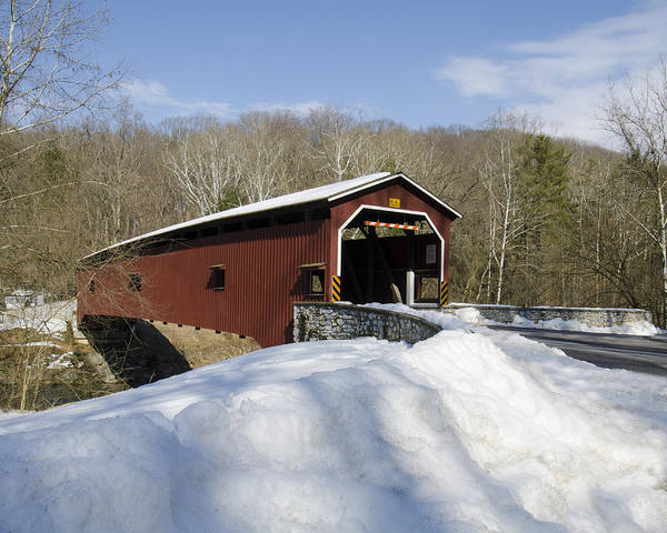 Wall Art - Photograph - The Colemanville Covered Bridge  by Dave Sandt