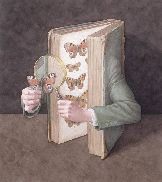 Wall Art - Photograph - The Collector, 2005 Wc On Paper by Jonathan Wolstenholme