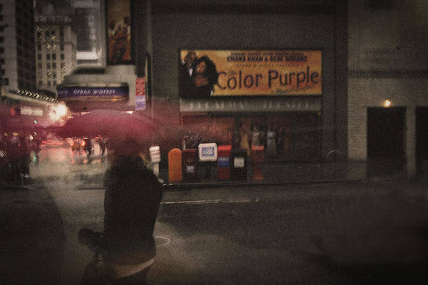 Purple Rain Digital Art - The Color Purple by Linda Unger