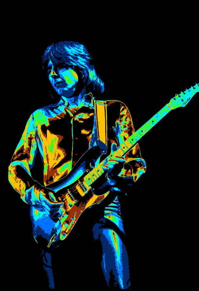 Photograph - The Colorful Sound Of Mick Playing Guitar by Ben Upham