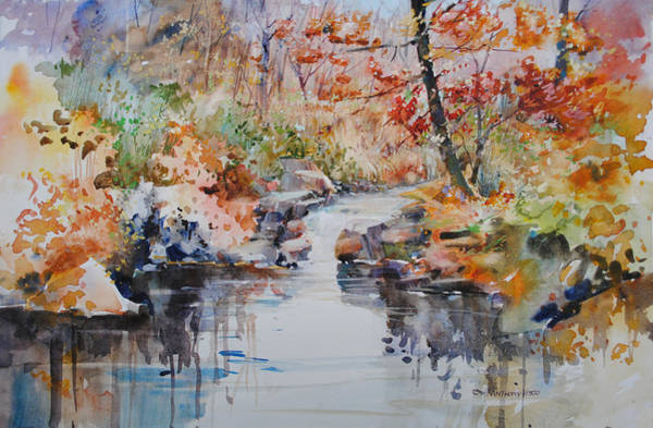 Waterway Painting - The Colors Of Fall by P Anthony Visco
