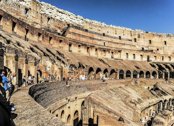 Archaeology Photograph - The Colosseum by Brian Gadsby