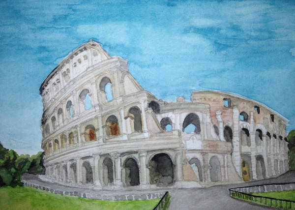 Samantha Painting - The Colosseum In Rome by Samantha Boyce