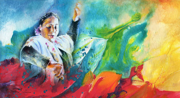 Painting - The Colours Of Flamenco by Miki De Goodaboom