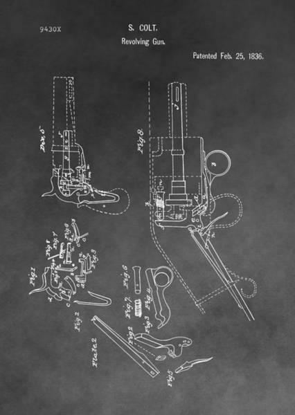 Shooting Mixed Media - The Colt Revolver by Dan Sproul