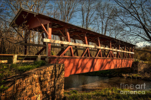 Red Covered Bridge Photograph - The Colvin Covered Bridge by Lois Bryan
