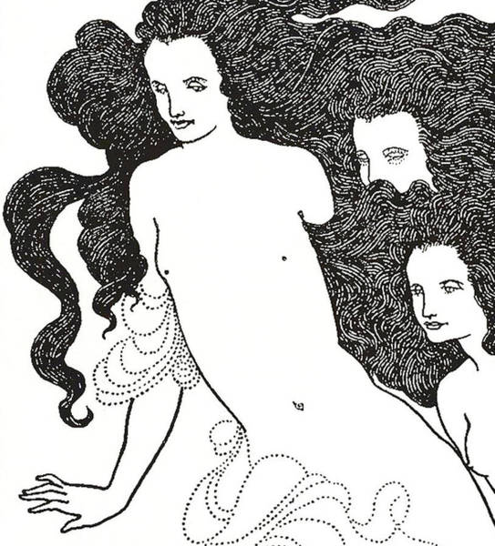 Bold Drawing - The Comedy Of The Rhinegold by Aubrey Beardsley