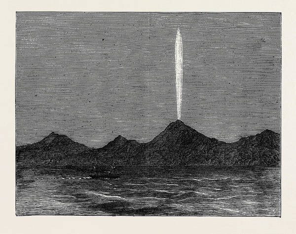 Queen Charlotte Sound Wall Art - Drawing - The Comet In The Southern Hemisphere As Viewed by English School