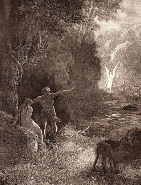 Dor Drawing - The Coming Of Raphael, By Gustave DorÉ. Dore by Litz Collection