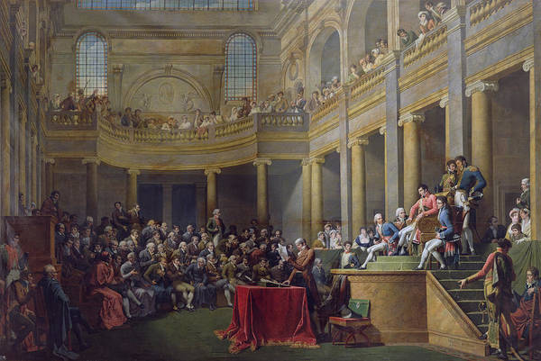 Napoleon Photograph - The Committee Of Lyon, 26th January 1802, 1808 Oil On Canvas by Nicolas Andre Monsiau