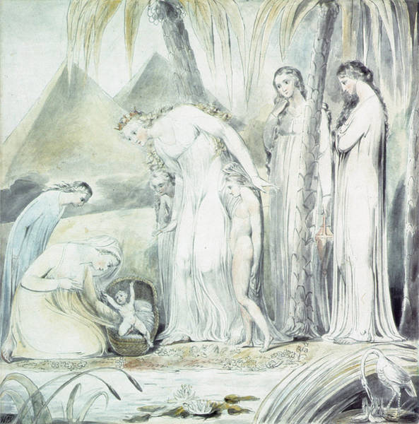 Wall Art - Painting - The Compassion Of Pharaohs Daughter Or The Finding Of Moses by William Blake