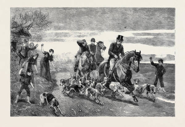 Pleasure Drawing - The Condition Of Ireland The Pleasures Of Hunting by Irish School