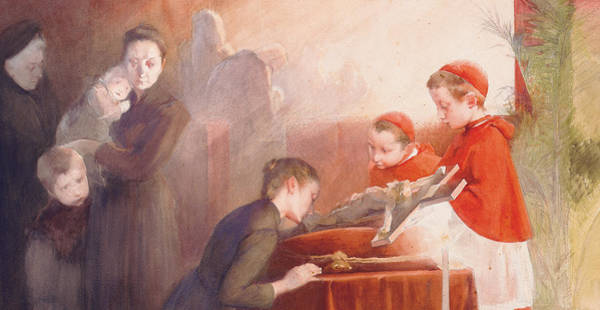 Communion Painting - The Confirmation by Henri Jules Jean Geoffroy