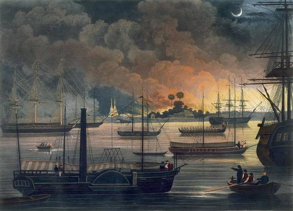 Warfare Drawing - The Conflagration Of Dalla by Joseph Moore