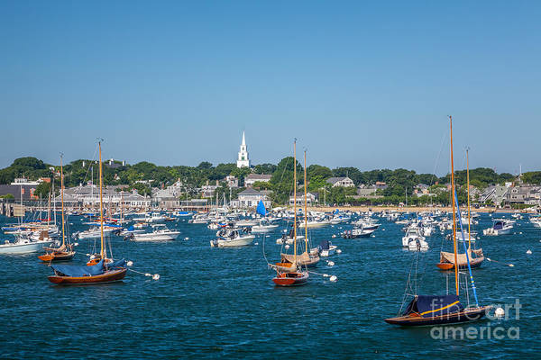 Photograph - The Congregational Church On Nantucket Harbor by Susan Cole Kelly