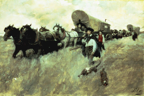 Brandywine Wall Art - Painting - The Connecticut Settlers Entering by Howard Pyle