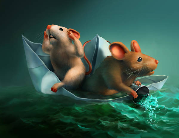 Sailors Digital Art - The Conspicuous Failure Of The Paper Boat Experts by Vanessa Bates