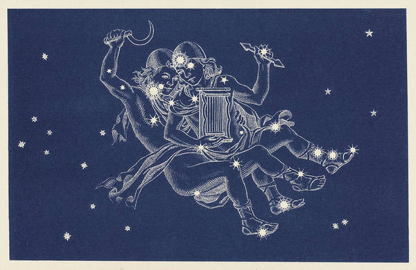 Wall Art - Drawing - The Constellation Gemini     Date by Mary Evans Picture Library